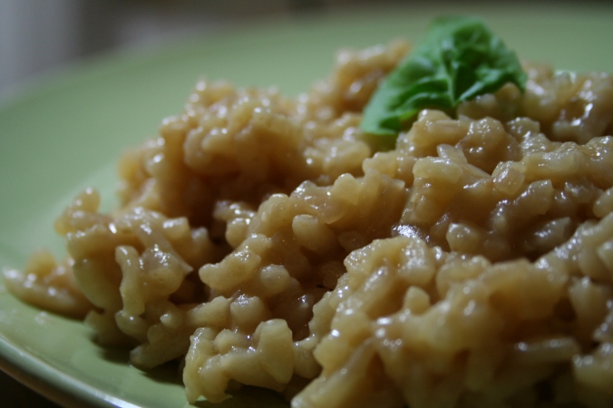 Miso provides deep, savory flavors in this vegan risotto
