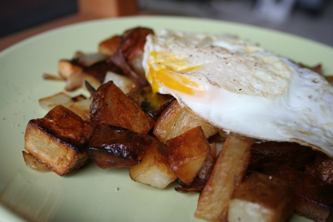 Breakfast hash with perfectly fried potatoes