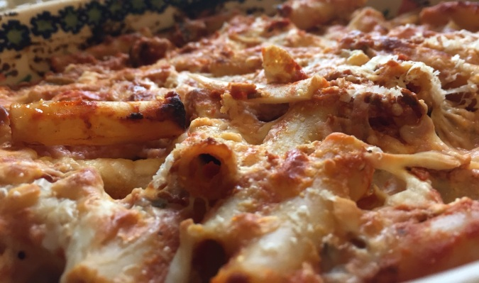 Deliciously made baked ziti