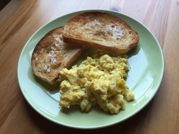 Dijon Scrambled Eggs Above