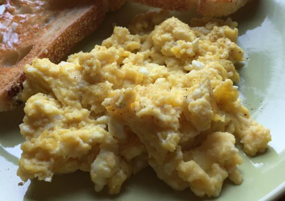 Dijon Scrambled Eggs Close
