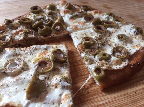 Zaatar Pie in slices